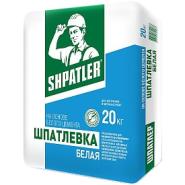 Шпатлевка белая цементная для внутренних и наружных работ Шпатлер белая 20 кг