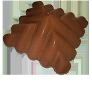 Козырек столба узорный Коричневый 450х450