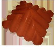 Козырек столба узорный Красный 450х450