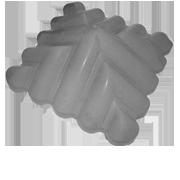 Козырек столба узорный Серый 450х450