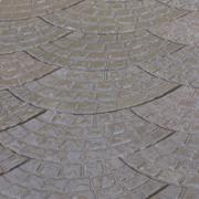 Тротуарная плитка Веер московский 500х220х30 Бежевый