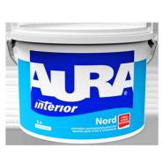 Матовая высокоукрывистая краска для стен и потолков Aura Nord