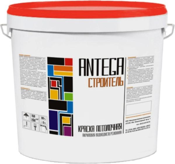 Краска ANTEGA — Строитель потолочная 14 кг