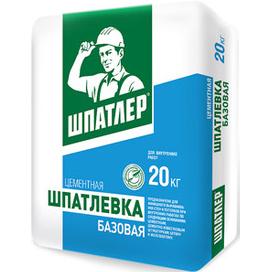 Шпатлевка цементная для внутренних работ Шпатлер Базовая 20 кг