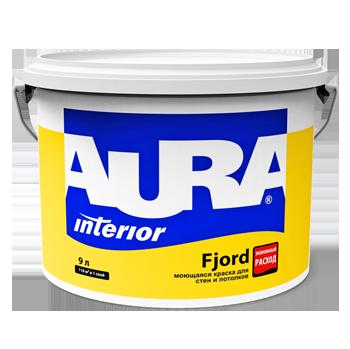 Влагостойкая матовая краска для стен и потолков Aura Fjord