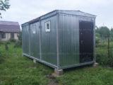 Модуль с садовой баней (мобильная сауна)