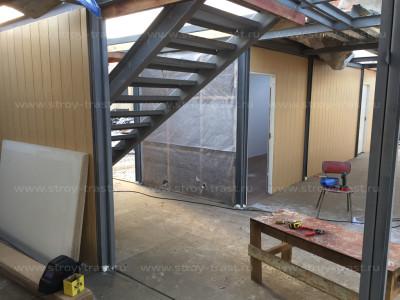 Изготовление модульных конструкций раздевалок и комнат отдыха команд стадиона Молния СПб