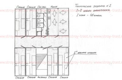 Двухэтажное здание для проживания технического песонала