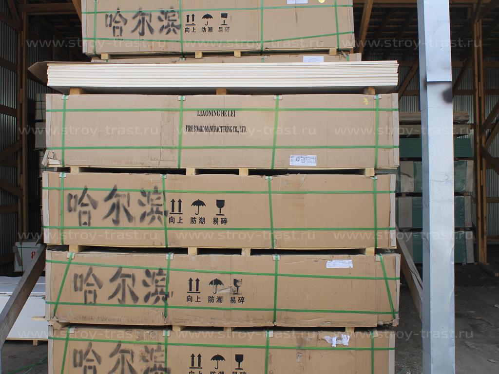 Очередное поступление стекломагниевого листа на склад компании СтройТраст в Санкт-Петербурге