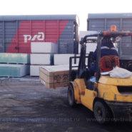 Поступление стекломагниевого листа Харбин премиум 8 мм на склад в СПб
