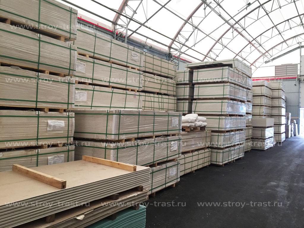 Самый большой склад стекломагниевого листа в России