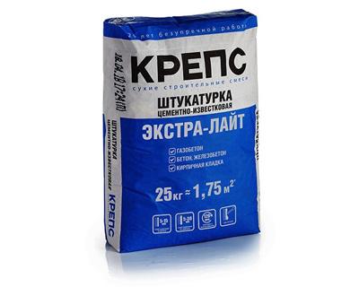 Цементно-известковая штукатурка КРЕПС Экстра-Лайт 25 кг